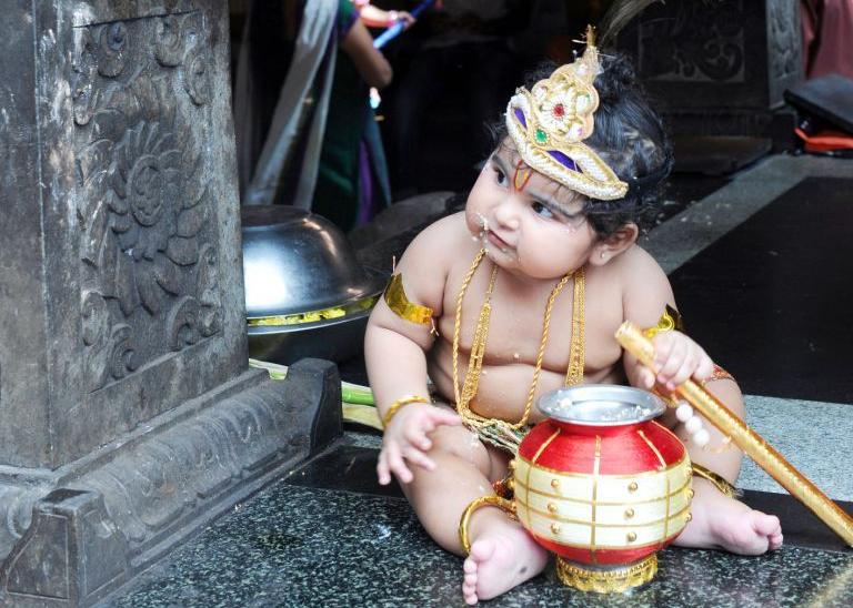 The Gita starts with Dhrutarashtra