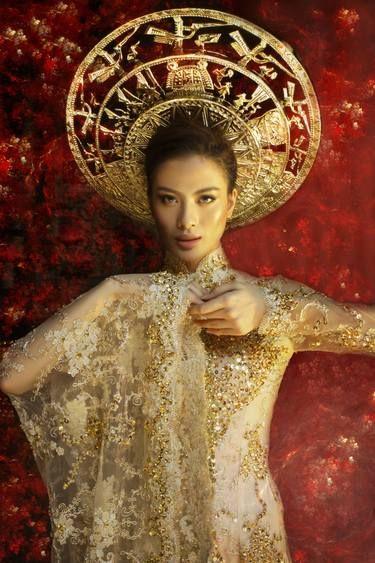 Wearing gold..
